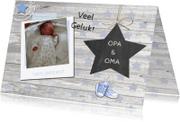Felicitatiekaarten - felicitatie opa oma ster