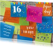 Verjaardagskaarten - Felicitatie tiener memo vrolijk