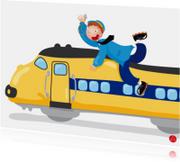 Verjaardagskaarten - Felicitatiekaart voor een jongen met een trein erop