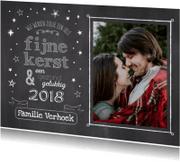 Kerstkaarten - Fijne Kerst  Krijtbord & Sterren