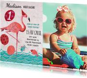 Kinderfeestjes - Flamingo 1 jaart zomer feestje