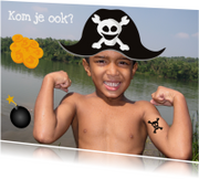 Kinderfeestjes - Fotokaart Piraten