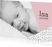 Geboortekaartjes - Geboortekaartje grafisch met foto
