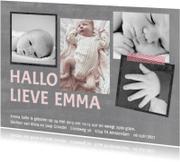 Geboortekaartjes - Geboortekaartje hip meisje fotos