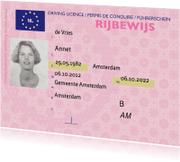 Geslaagd kaarten - gelslaagd kaart - echt rijbewijs