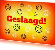 Geslaagd kaarten - Geslaagd Happy Smileys IW