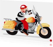 Geslaagd kaarten - Geslaagd kaart motor rijbewijs met humor