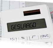 Geslaagd kaarten - Geslaagd op witte rekenmachine