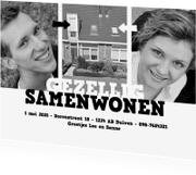 Verhuiskaarten - Gezellig Samenwonen Z/W - BK