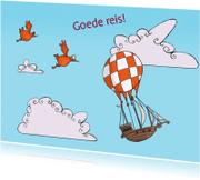 Wenskaarten divers - Goede reis met luchtschip