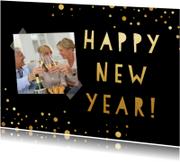 Nieuwjaarskaarten - Gouden kaart nieuwjaar - SU