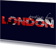 Vakantiekaarten - Greetings from London
