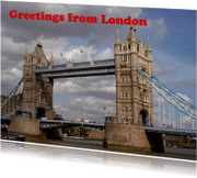 Vakantiekaarten - Greetings from London 2