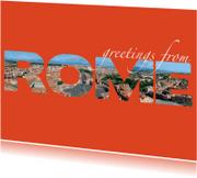 Vakantiekaarten - Greetings from Rome
