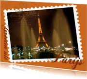 Vakantiekaarten - Groeten uit Parijs toren