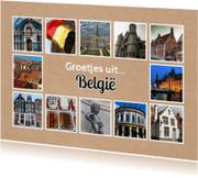 Vakantiekaarten - Groetjes uit België - DH