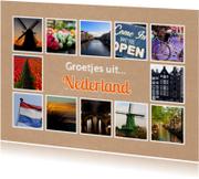 Ansichtkaarten - Groetjes uit Nederland - DH