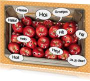 Zomaar kaarten - groetjes van een mand appels