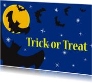 Halloween kaarten - Halloween kaart Trick or Treat