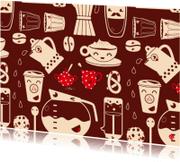 Uitnodigingen - Happy coffee