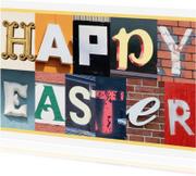 Paaskaarten - Happy Easter - letters