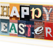 Paaskaarten - Happy Easter - letters