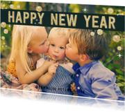 Nieuwjaarskaarten - Happy New Year Goud Sterren