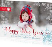 Happy New Year Sneeuw Letters