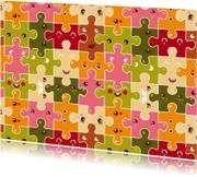 Verjaardagskaarten - Happy puzzles