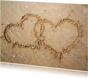 Valentijnskaarten - Hartjes in het zand