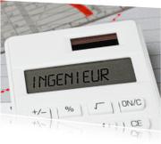 Geslaagd kaarten - INGENIEUR op een rekenmachine