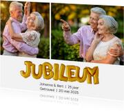 Jubileumkaarten - Jubileum uitnodiging ballonnen goud