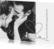 Jubileumkaarten - Jubileumkaart 10 jaar samen eenvoudig met foto en hart