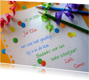 Bedankkaartjes - Juf - Meester - Verjaardag - Feestpapier