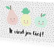Liefde kaarten - Kaartje lief fruit - WW