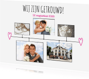Trouwkaarten - Kalender getrouwd wit - BK