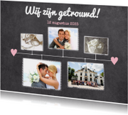 Trouwkaarten - Kalender krijt getrouwd - BK