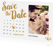 Trouwkaarten - Kalender Save the Date foto - BK