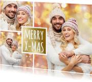 Kerstkaarten - Kerst collage goud - OT