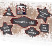 Kerstkaarten - Kerst papier krijt labels L