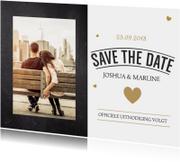 Trouwkaarten - Kerst Save the date kaart