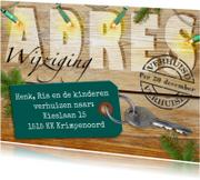 Kerstkaarten - Kerst-verhuiskaart Adreswijziging - HE