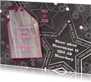 Kerstkaarten - KERST verhuiskaart hout L