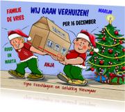 Kerstkaarten - Kerst-verhuiskaart met doos - HE