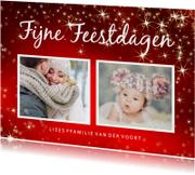 Kerstkaarten - Kerstkaart ansichtkaart met 2 foto's