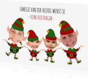 Kerstkaarten - Kerstkaart Elfjes 4 personen
