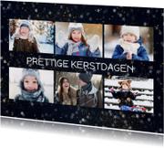 Kerstkaarten - Kerstkaart met 6 foto's en sterren effect
