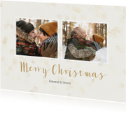 Kerstkaarten - Kerstkaart met dubbele foto staand - BK