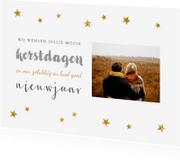 Kerstkaarten - Kerstkaart sterretjes typografie foto - BC