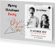 Kerstkaarten - Kerstkaart uitnodiging etentje